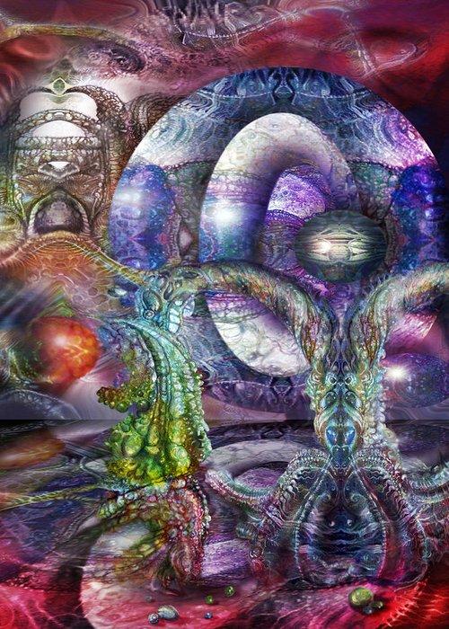 Fomorii Greeting Card featuring the digital art Fomorii Universe by Otto Rapp