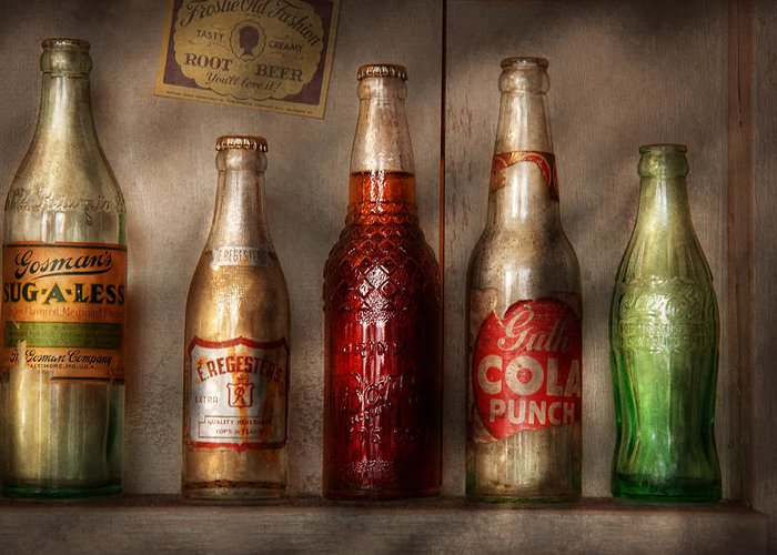Soda Greeting Card featuring the photograph Food - Beverage - Favorite Soda by Mike Savad