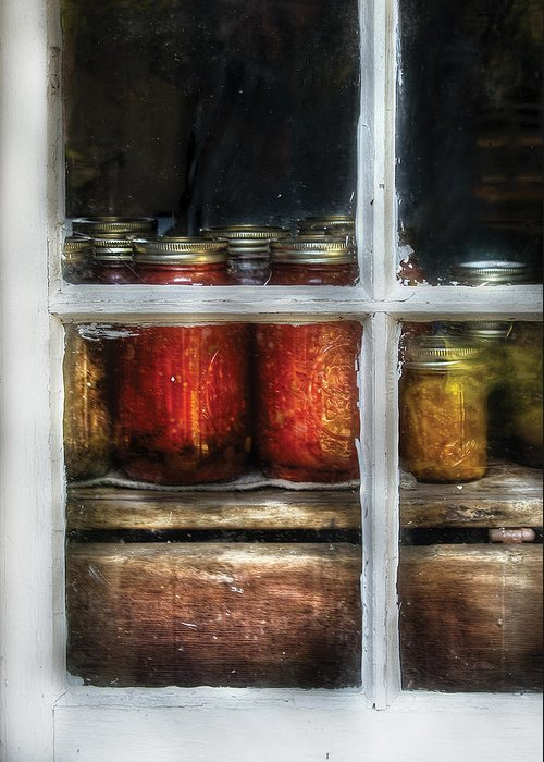 Savad Greeting Card featuring the photograph Food - Country Preserves by Mike Savad