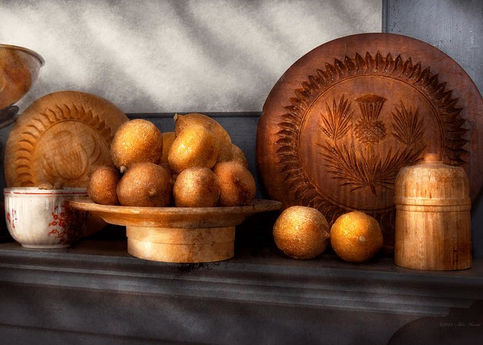 Still Life Greeting Card featuring the photograph Food - Lemons - Winter Spice by Mike Savad