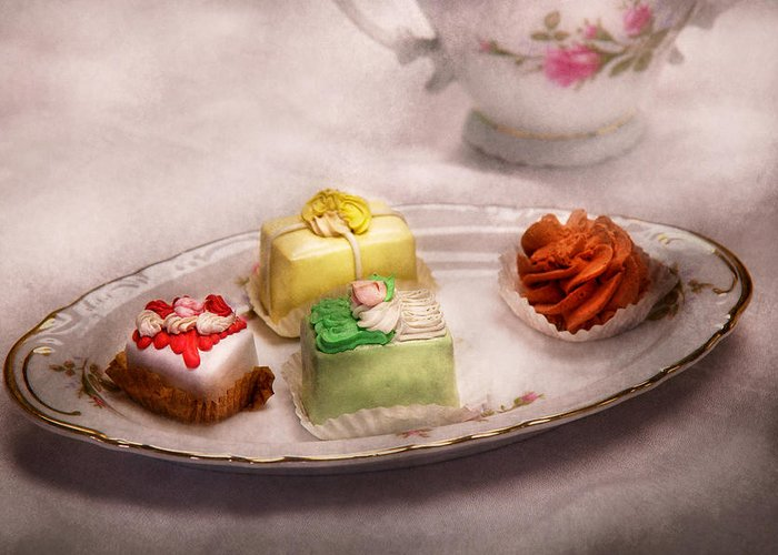 Cake Greeting Card featuring the photograph Food - Sweet - Cake - Grandma's Treats by Mike Savad