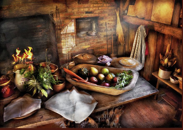 Savad Greeting Card featuring the photograph Food - The Start Of A Healthy Meal by Mike Savad