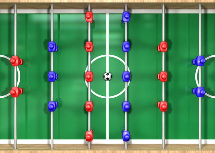 Foosball Greeting Cards