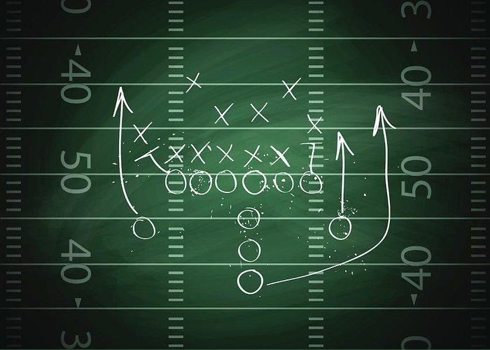 Plan Greeting Card featuring the digital art Football Play by Traffic analyzer
