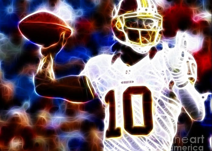 Rg3 Greeting Card featuring the photograph Football - Rg3 - Robert Griffin IIi by Paul Ward