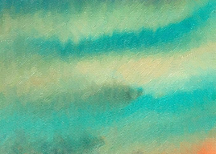 Serene Greeting Card featuring the painting For A Breath by The Art of Marsha Charlebois