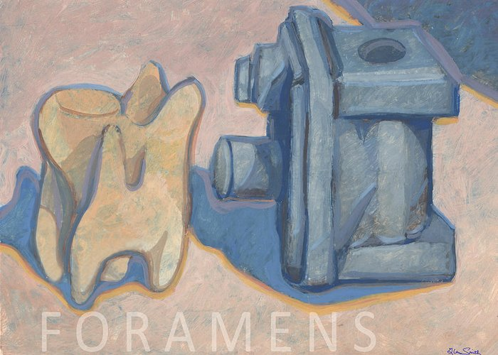 Foramens Greeting Card featuring the painting Foramens by Richard Glen Smith