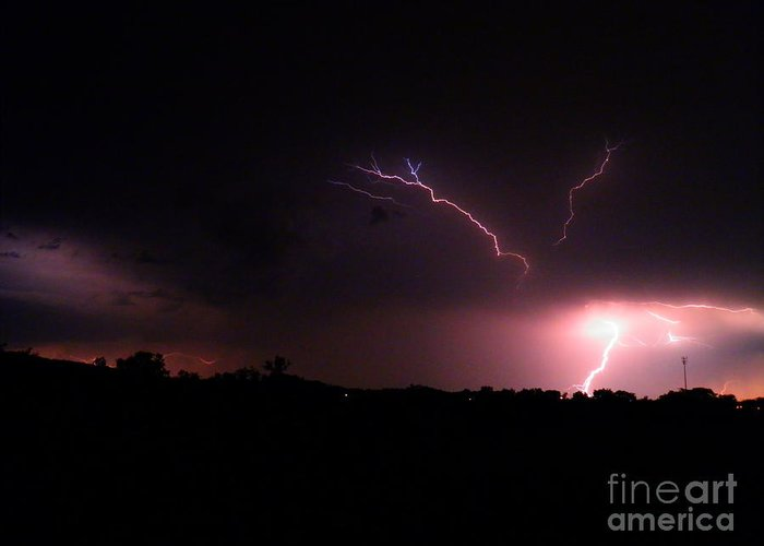 Lightning Bolt Greeting Card featuring the photograph Forces Of Nature 1 by Amy Stuart Langlo