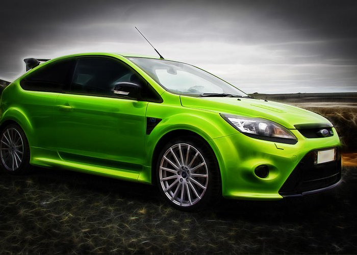 Ford Rs Greeting Card featuring the photograph Ford Focus Rs by motography aka Phil Clark