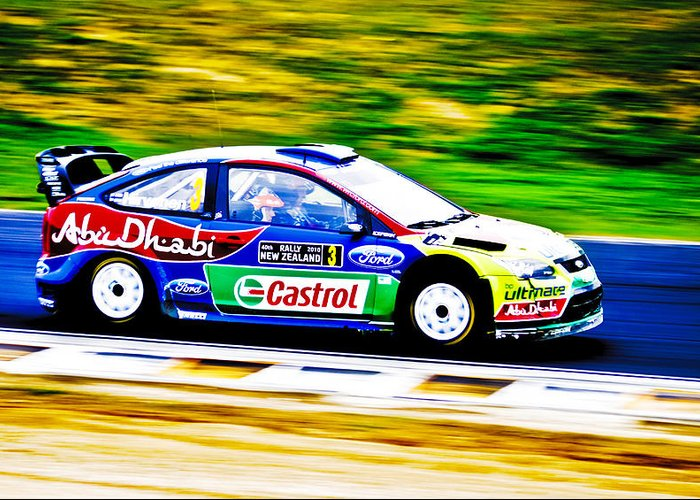 2010 Ford Focus Greeting Card featuring the photograph Ford Focus Wrc by motography aka Phil Clark