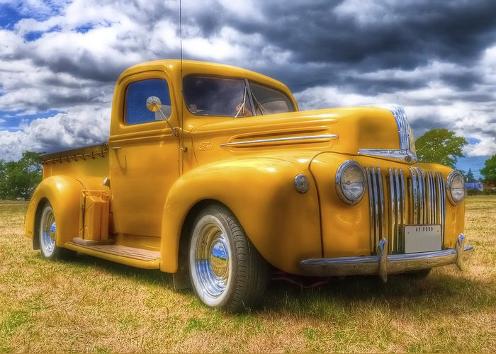 Ford Pickup Greeting Card featuring the photograph Ford Jailbar Pickup Hdr by Phil 'motography' Clark