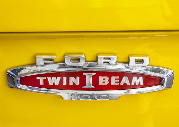 Ford Logo Greeting Card featuring the photograph Ford Tough 1966 Truck by Rich Franco