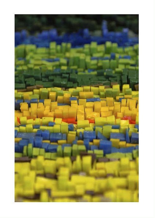 Mosaic Greeting Card featuring the glass art Forest Floor by Genna Wise