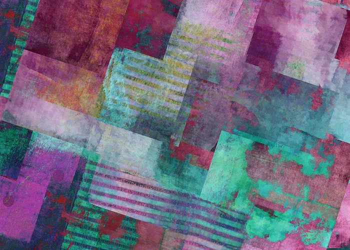 Abstract Greeting Card featuring the digital art Forever - Abstract Art by Ann Powell