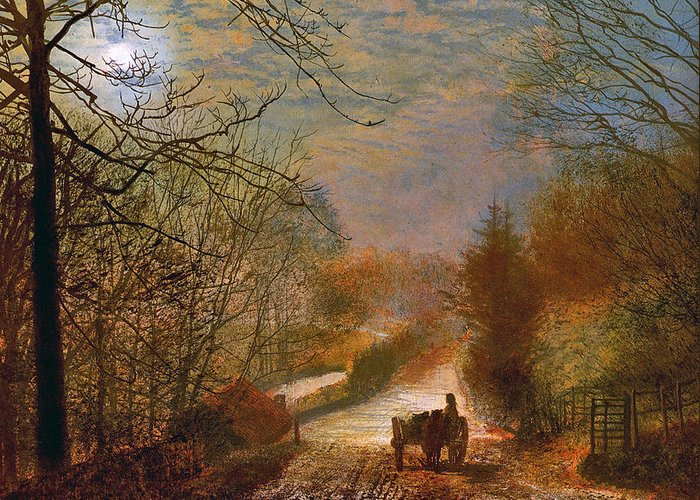 Grimshaw Greeting Card featuring the painting Forge Valley Near Scarborough by John Atkinson Grimshaw