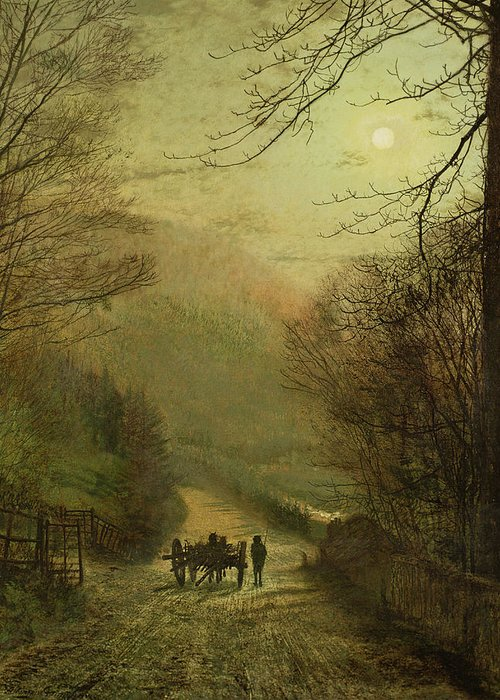 Grimshaw Greeting Card featuring the painting Forge Valley, Scarborough by John Atkinson Grimshaw
