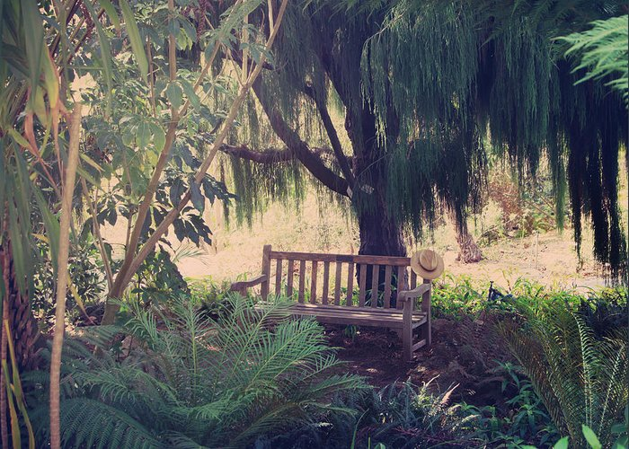 Berkeley Botanical Gardens Greeting Card featuring the photograph Forgotten.... by Laurie Search