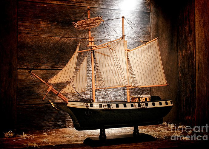 Ship Greeting Card featuring the photograph Forgotten Toy by Olivier Le Queinec