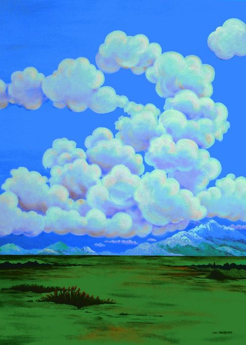 Clouds Greeting Card featuring the painting Formations by Carol Sabo