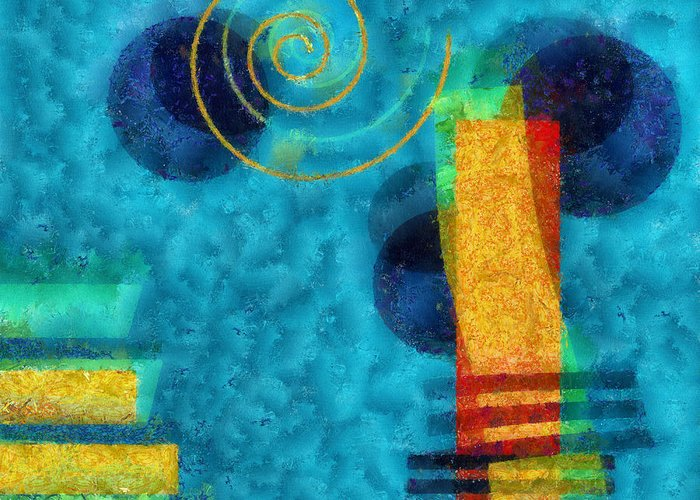 Forms Greeting Card featuring the digital art Formes 02b by Variance Collections