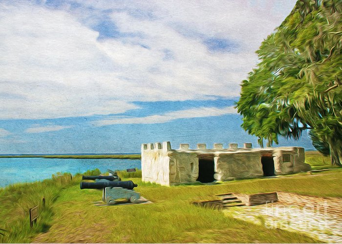 Fort Frederica Greeting Card featuring the photograph Fort Frederica by Laura D Young