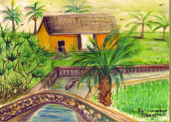 Fort Lauderdale Greeting Card featuring the painting Fort Lauderdale Manistee by Bernadette Krupa
