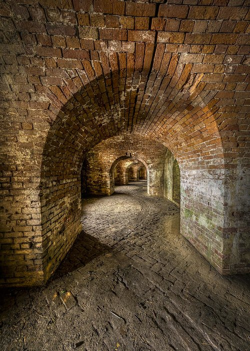 Fort Macomb Greeting Card featuring the photograph Fort Macomb Arches Vertical by David Morefield