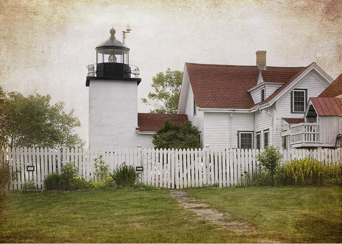 Lighthouse Greeting Card featuring the photograph Fort Point Lighthouse by Joan Carroll