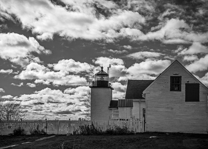 Fort Point Lighthouse Greeting Card featuring the photograph Fort Point Lighthouse by Robert Clifford