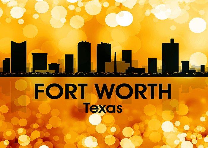 Fort Worth Greeting Card featuring the mixed media Fort Worth Tx 3 by Angelina Vick