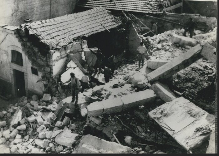 retro Images Archive Greeting Card featuring the photograph Forty Dead In Flats Collapse In Italy by Retro Images Archive