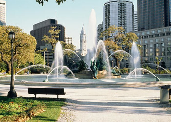 Swann Memorial Fountain Greeting Cards