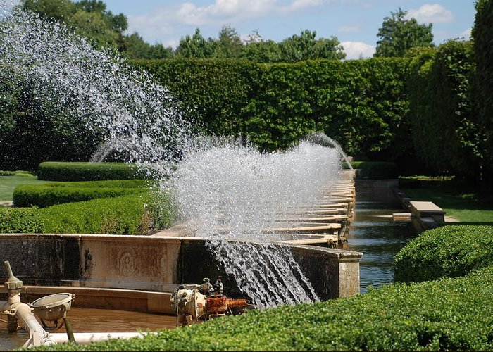 Fountains Greeting Card featuring the photograph Fountains by Jennifer Ancker
