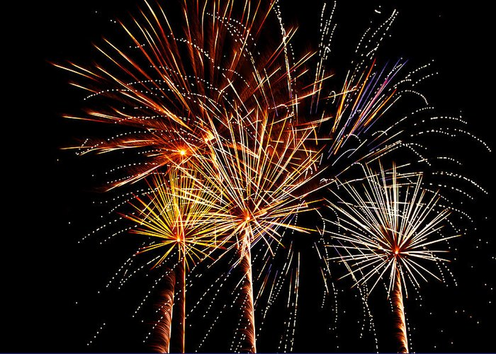 July 4th Greeting Card featuring the photograph Fourth Of July Fireworks by Saija Lehtonen