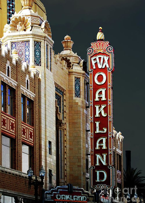 Wingsdomain Greeting Card featuring the photograph Fox Theater . Oakland California by Wingsdomain Art and Photography