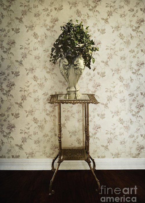 Plant Greeting Card featuring the photograph Foyer Living by Margie Hurwich