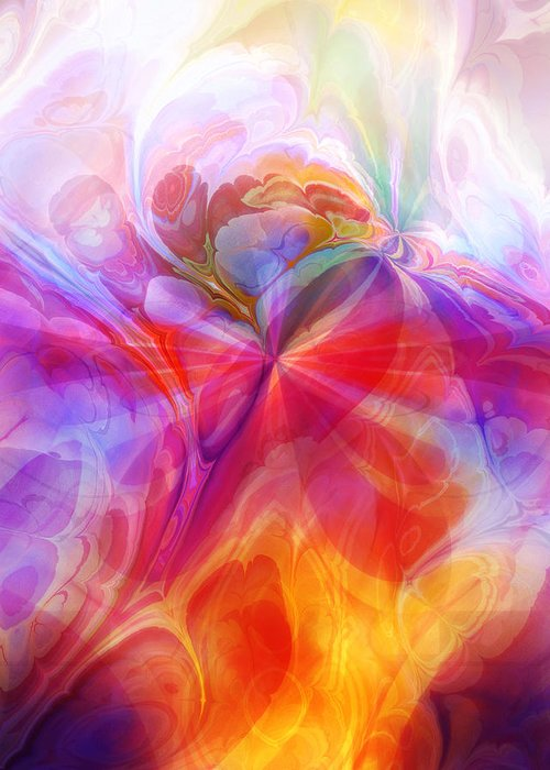 Fractal Desire Greeting Card featuring the digital art Fractal Desire by Lutz Baar
