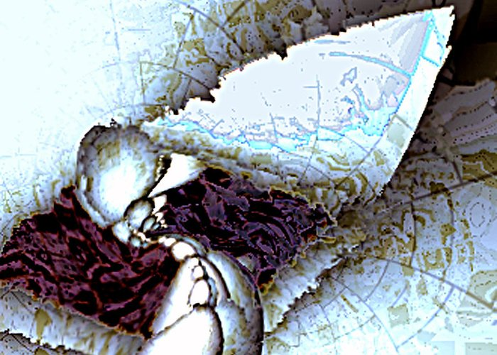 3d Greeting Card featuring the digital art Fractured Perception Shattered Mind V.2 by Rebecca Phillips
