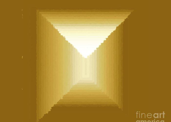 Greeting Card featuring the digital art Frame 6 by Hugh Thompson