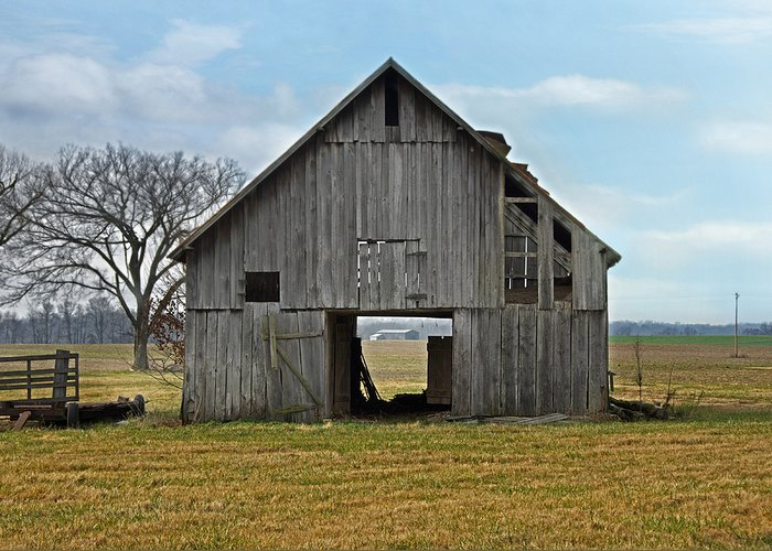 Barn Greeting Card featuring the photograph Framed Barn by Steven Michael