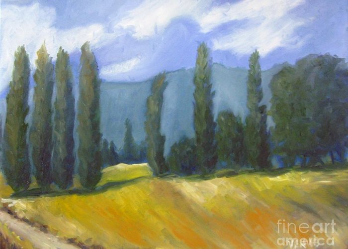 France Landscape Greeting Card featuring the painting France Landscape by Venus