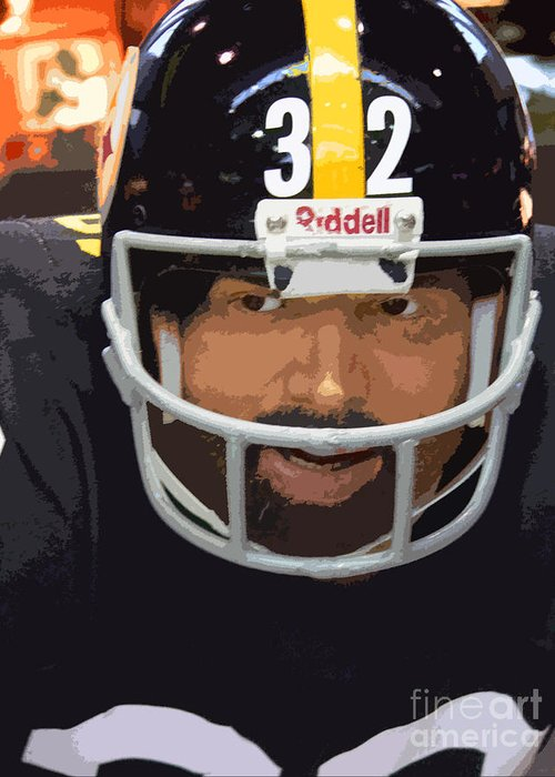 Franco Harris Greeting Card featuring the photograph Franco by David Bearden