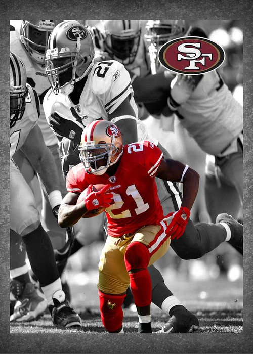 Frank Gore Greeting Card featuring the photograph Frank Gore 49ers by Joe Hamilton
