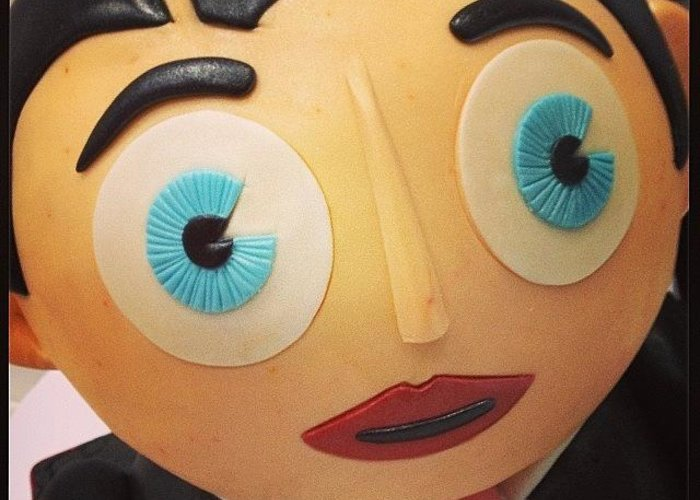 Greeting Card featuring the photograph Frank Sidebottom - In Cake by Jamie Emanuel