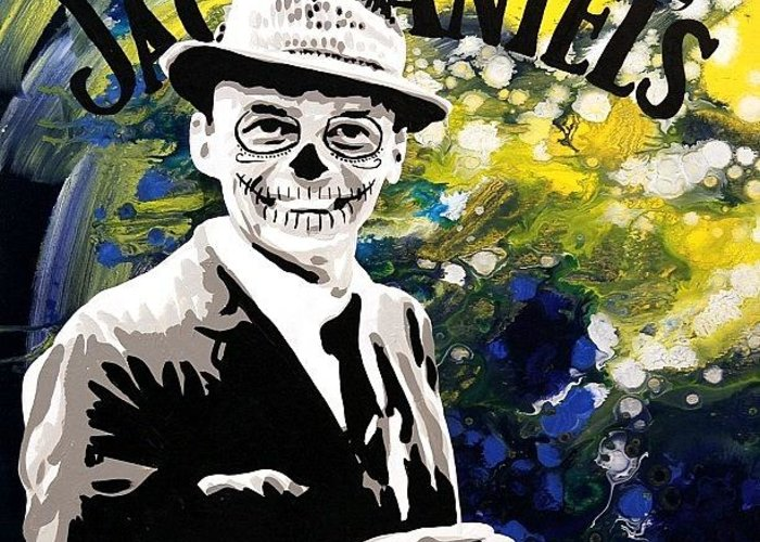 Frank sinatra day of the dead painting greeting card for sale by sinatra greeting card featuring the photograph frank sinatra day of the dead painting by ocean clark m4hsunfo