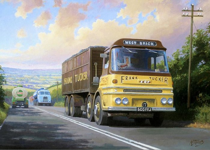 United Kingdom Greeting Card featuring the painting Frank Tucker's Erf. by Mike Jeffries