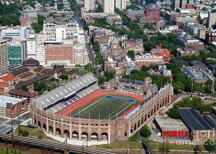 Franklin Field Greeting Card featuring the photograph Franklin Field University City Pennsylvania by Bill Cobb