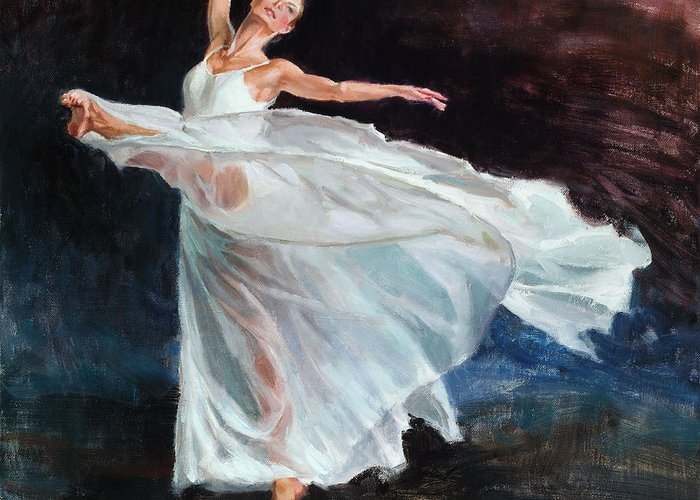 Wallis Greeting Card featuring the painting Free Movement by Eric Wallis