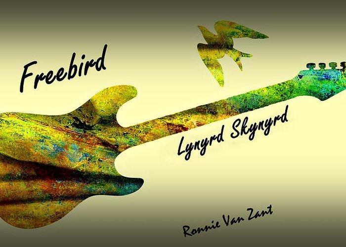 Lynyrd Skynyrd Christmas Cards 2020 Freebird Lynyrd Skynyrd Ronnie Van Zant Greeting Card for Sale by