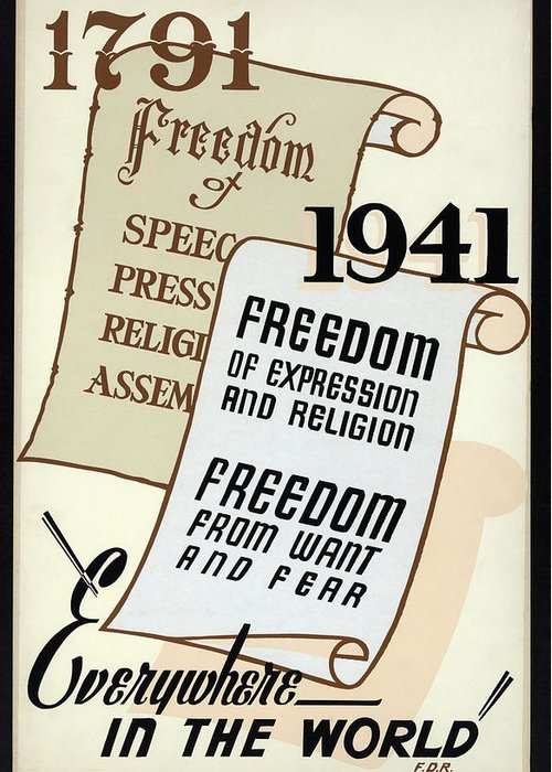 world War Two Greeting Card featuring the photograph Freedom Everywhere In The World by Daniel Hagerman